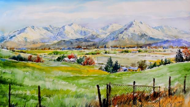 This watercolour artwork by South Island artist John Keith Reed was sold at the Otautau Gallery.