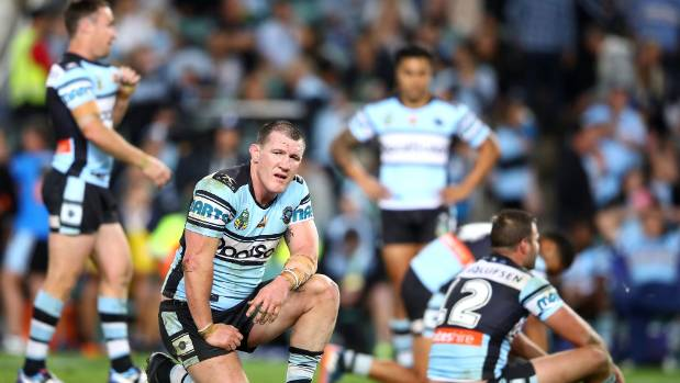 The hooter sounds and it's utter despair for Paul Gallen and his Cronulla Sharks.