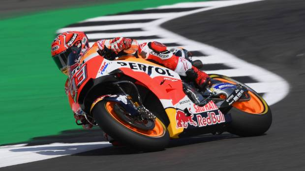 Marc Marquez shares the lead in MotoGP after winning the San Marino Grand Prix.