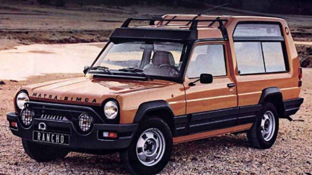 Matra-Simca Racho was a very early attempt at a crossover. Looked tough, but wasn't even 4WD.