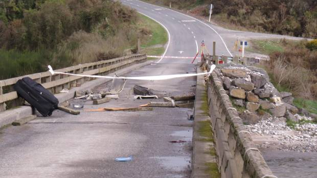 Tamati Rae crashed through the wooden railings and off the bridge on Atarau Rd, between Greymouth and Reefton, on Sunday.