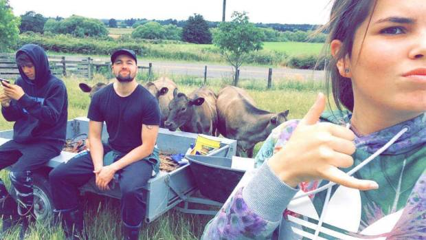 Christchurch man Nathan de Lautour Hone with his siblings, Connor and Jade, on their Waikato dairy farm.
