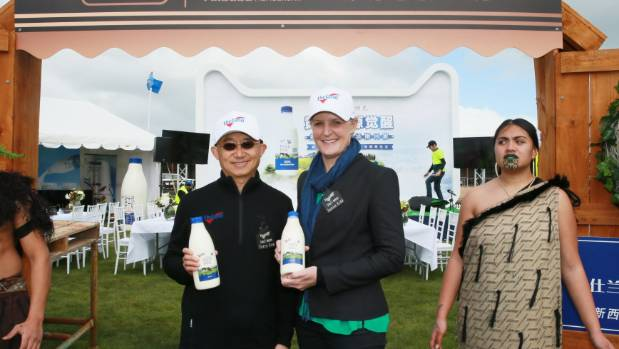 Milk New Zealand managing director Terry Lee and agribusiness chief executive Justine Kidd launched their agreement to ...