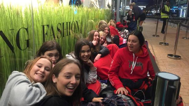 About 800 people lined the footpath for the opening of H&M's new Christchurch store at the weekend.