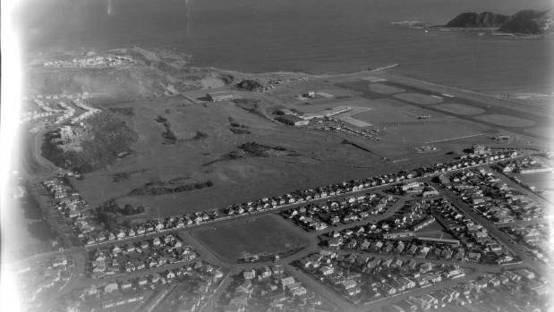Miramar Golf Club, next to Wellington Airport, in 1963.