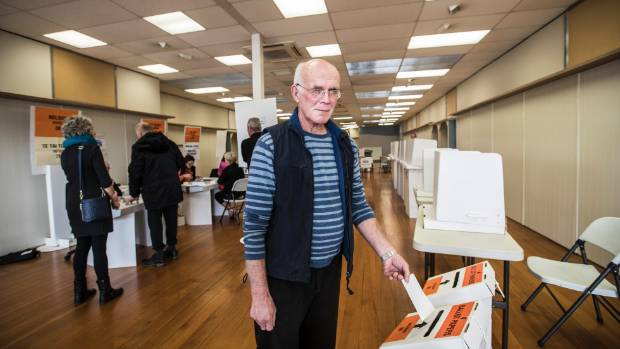 Nelson residents cast their votes on the first day of voting, September 11.
