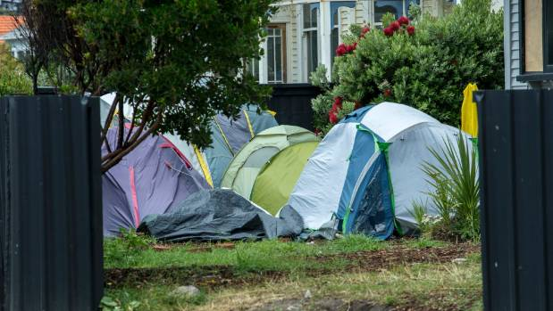 The Christchurch City Council took action over activities at this Airbnb property in Sumner that allowed guests to camp ...