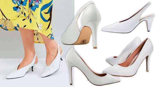 Top picks, clockwise from left: Gestuz slingback heels, $367, at ASOS; Mi Piaci Rosalie heels, $260; Topshop Gemma ...
