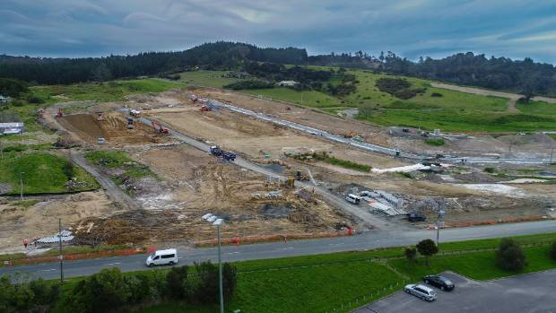 An aerial shot of earthworks underway of stage one for the Parkview development.
