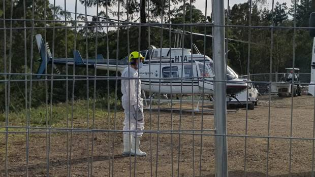 A hole was cut in the predator-proof fence and a refueling tank was vandalised ahead of the first aerial drop.