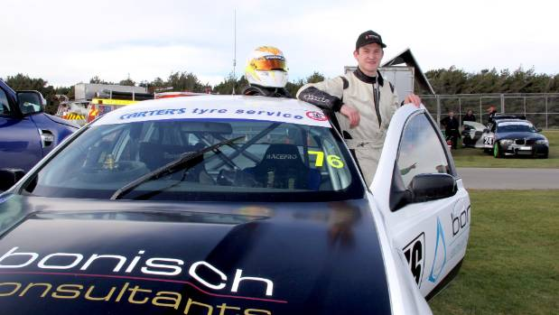 Race car driver Jordan Michels who entered every category at the opening of the 2017/18 motor racing season at Teretonga ...