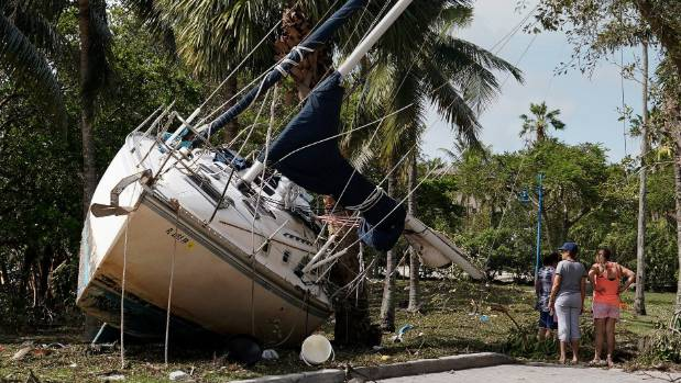 Trump and Pence survey Hurricane Irma damage