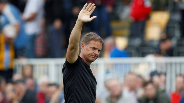 Crystal Palace manager Frank de Boer lasted just 77 days in the job.