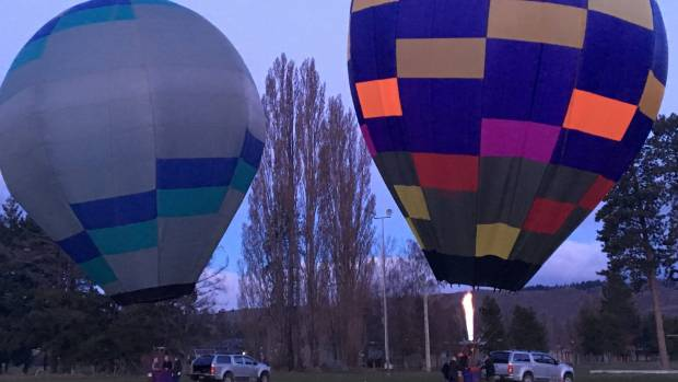 Hot air balloons were raised in Alexandra on Monday and Tuesday ahead of a hot air balloon festival planned for 2018.