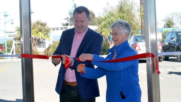 Marlborough Deputy Mayor Terry Sloan and Friendship Force Marlborough member Judith Kerridge cut the ribbon and declare ...