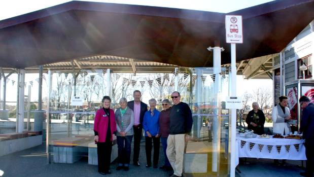 Friendship Force Marlborough Members from left, Gillian Mutch, Val McMurtry with deputy mayor Terry Sloan, Judith ...