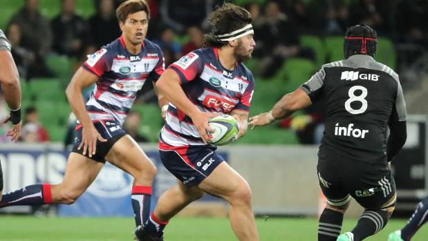Tyrel Lomax, pictured here in action this year with the Melbourne Rebels, believes his rugby future lies in New Zealand.