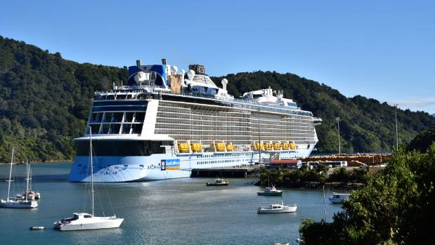 The Ovation of the Seas in Shakespeare Bay in January.