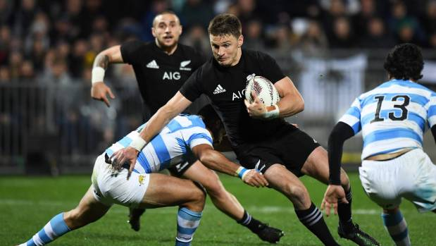 Beauden Barrett missed three conversions in the All Blacks' 37-22 victory over Argentina in New Plymouth last weekend.