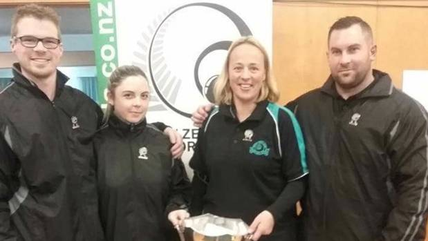 Upper Hutt indoor bowlers Ashley Diamond, left, Sheree Holmes, Lisa White and Brandon Fuge will look to defend their New ...