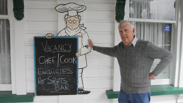 Grand Tavern publican Graeme Blackford is still hopeful someone will answer his advertisement for a chef.