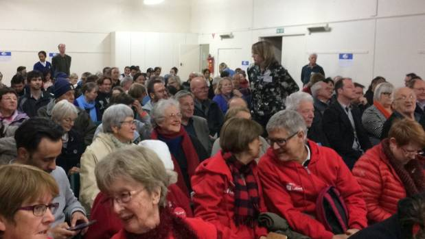 """There were shouts of """"shame"""" to Kym Koloni's views on """"one law for all"""" at a """"meet the candidate"""" event in Northcote."""