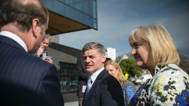 Prime Minister Bill English and Justice Minister Amy Adams arrive for the official opening of the Christchurch justice ...