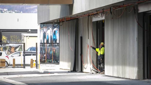 Workers will still be seen on site even though the official opening of the Christchurch Justice and Emergency Services ...