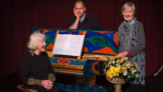Rose Beauchamp, Jeff Kingsford-Brown and Helen Moulder are bringing Cynthia and Gertie Go Baroque to Palmerston North.
