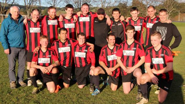 The Gore Wanderers Donald Gray Cup football side after their important match against Old Boys.