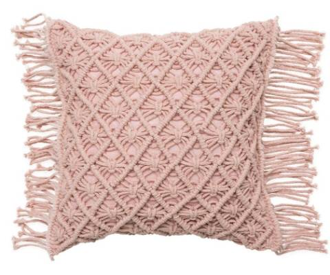 When macrame and blush pink meet, there's all the more to love. $48.99 from Adairs.