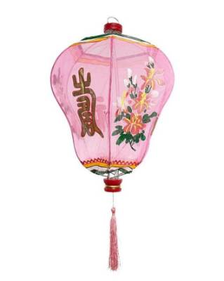 In place of a traditional pendant fixture, add a little interest with a pink chinese lantern. $145 for the large size ...