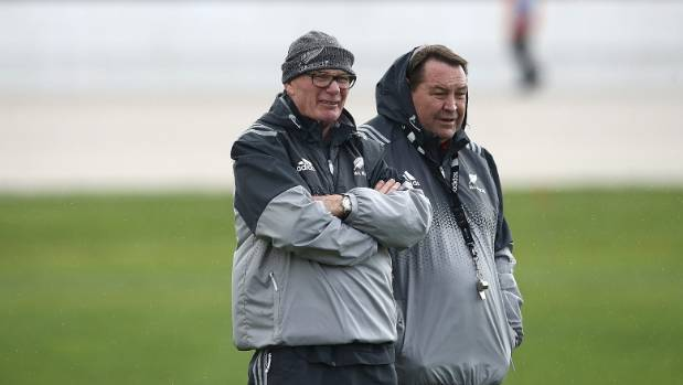 All Blacks coach Steve Hansen, pictured with scrum guru MIke Cron, says sporting success is all about 'feeling ...