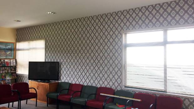 After: the wallpaper lightened up the room and gave it a bit more interest. It has spurred the teachers on to make more ...