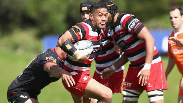 Counties halfback Augustine Pulu in action against Canterbury in Pukekohe last year, when his team beat the red and ...