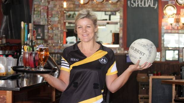 Matamata's Kelly Henderson balances owning a business, raising two children and playing in the Thames Valley netball league.
