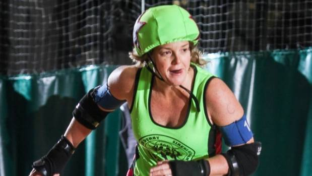 """Sirens of Smash roller derby captain and jammer Fay """"Precious"""" McKenzie who is retiring at the end of the season."""