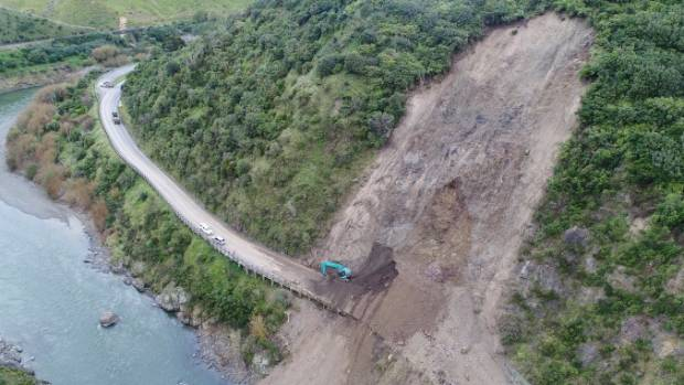The NZ Transport Agency expects as much as 630,000 cubic metres to drop at the Manawatū Gorge. A slip in April was 3500cum.