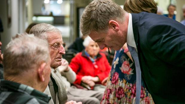 English also received a warm reception at the Anthony Wilding Retirement Village in Christchurch.