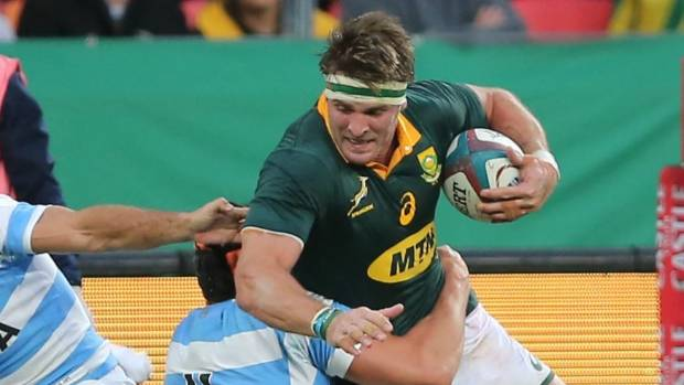 Springbok Jaco Kriel to return home after shoulder injury