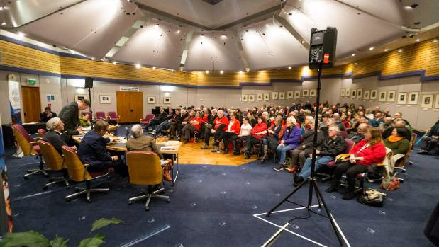 Taranaki Daily News  candidates forum held at the New Plymouth District Council chambers.