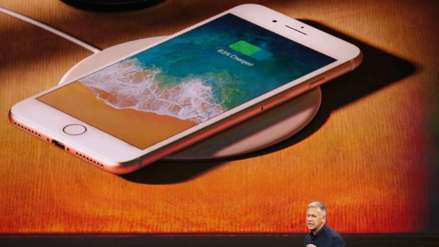 The iPhone 8 and iPhone X have wireless charging.