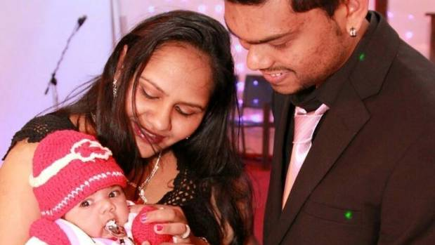 The couple's 5-month-old daughter is being cared for by her grandmother.