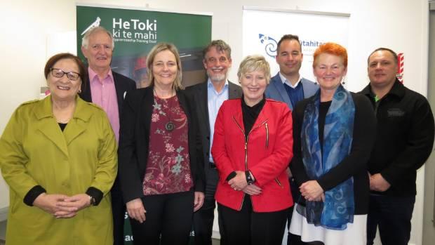 The team behind Te Pūtahitanga o Te Waipounamu and the research into initiative benefits.