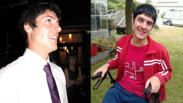 Brad Timms, left, in early 2016 and right, in late 2016. Brad has the neurodegenerative disorder, Batten disease.