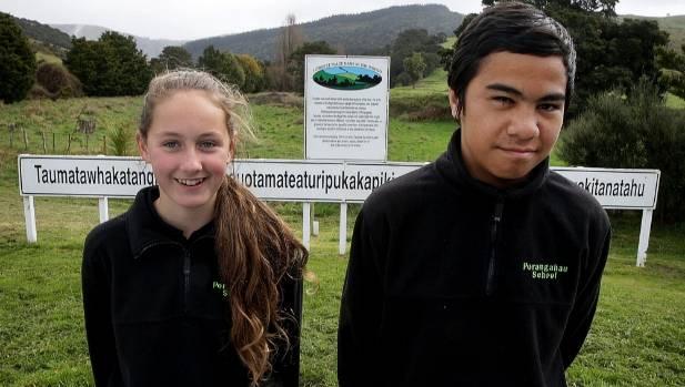 Lucy McCucheon, 11, and Billy Jackson, 12, of Porangahau School have their pronunciation spot on. Do you?