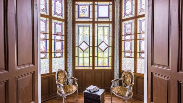 Beautiful stained glass windows are a key feature.