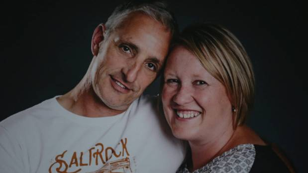 Maree and Graham Ford before Graham died of bowel cancer in July.