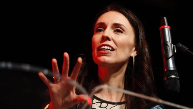 Labour leader Jacinda Ardern addressed more than 400 people at a Grey Power meeting at Annesbrook Church in Nelson.