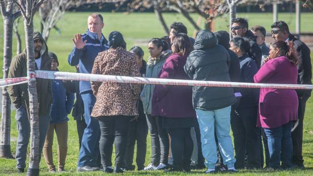 Friends and relatives of the couple gathered at the lake and formed a guard of honour as two bodies were placed in a hearse.